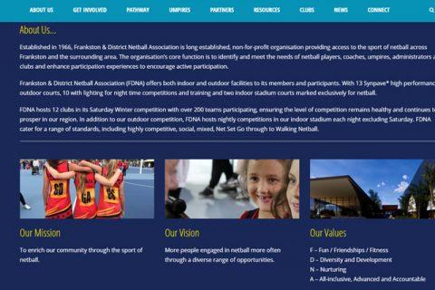 frankston netball website